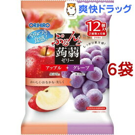 ぷるんと蒟蒻ゼリー パウチ アップル+グレープ(20g*12コ入*6セット)【ぷるんと蒟蒻ゼリー】