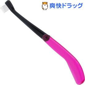 日本製 金属 マスカラコーム ピンポイント用 10PIN クリアピンク MK-710P(1本)