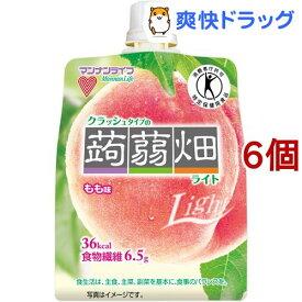 クラッシュタイプの蒟蒻畑ライト もも味(150g*6コセット)【蒟蒻畑】