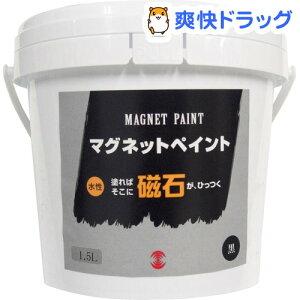ターナー マグネットペイント 水性 黒 MG015031(1.5L)【ターナー】