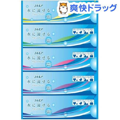 エルモア 水に流せるティシューペーパー(360枚(180組)*5コ入)【エルモア】