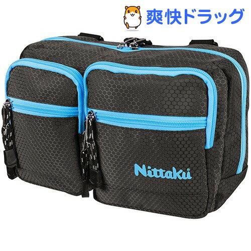 ニッタク 卓球バッグ ハニカムポーチ ブラック*ブルー(1コ入)【ニッタク】