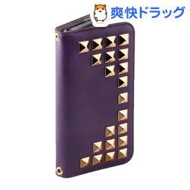 ゲイズ iPhone5/5s グリッターダイアモンドダイアリー パープル GZ3813i5S(1コ入)【ゲイズ】