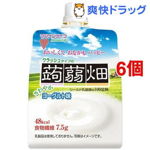 クラッシュタイプの蒟蒻畑 ヨーグルト味(150g*6コセット)【蒟蒻畑】