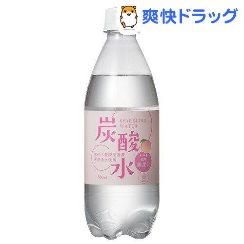 国産 天然水仕込みの炭酸水 ピーチ(500mL*24本入)