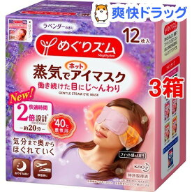 めぐりズム 蒸気でホットアイマスク ラベンダーの香り(12枚入*3箱セット)【めぐりズム】