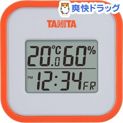 タニタ デジタル温湿度計 オレンジ TT558OR(1コ入)【タニタ(TANITA)】