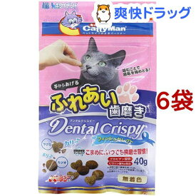 キャティーマン 猫ちゃんホワイデント デンタルクリスピー フィッシュセレクト(40g*6袋セット)【キャティーマン】