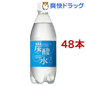 【訳あり】国産 天然水仕込みの炭酸水 ナチュラル(500ml*48本入)