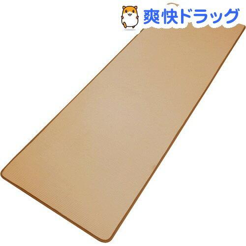 やわらかヨガマット ふわり〜な ベージュ 約60*180cm(1枚入)【送料無料】