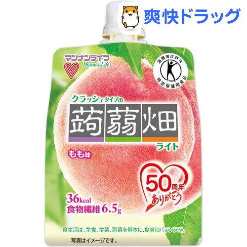 クラッシュタイプの蒟蒻畑ライト もも味(150g)【蒟蒻畑】