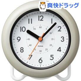 マグ 防滴バスクロック W-749 GY(1台)【マグ】