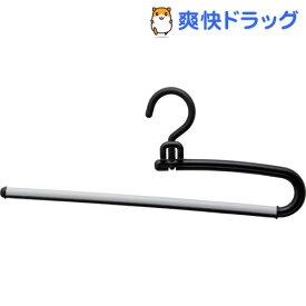S&F リレースラックスハンガー ブラック(2本組)【S&F】