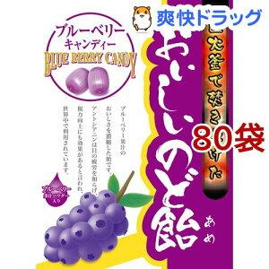 おいしいのど飴 ブルーベリー(70g*80袋セット)