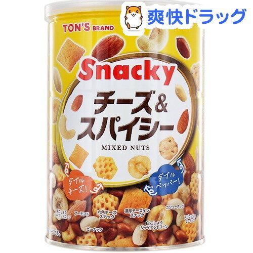 東洋ナッツ食品 チーズ&スパイシー 缶(300g)【トン(ナッツ)】