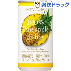 神戸居留地 パインアップル100%(185g*30本入)【神戸居留地】