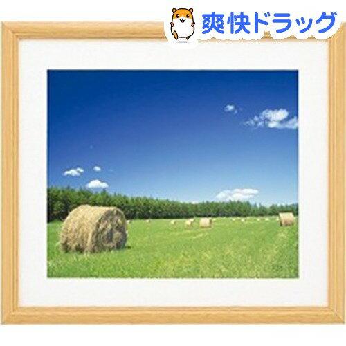 フジカラー 木製額縁 YM-3 ワイド4切 木地 アクリル(1コ入)
