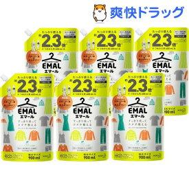 エマール 洗濯洗剤 リフレッシュグリーンの香り 詰め替え 特大サイズ(900ml*6袋セット)【エマール】