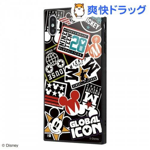 iPhoneXSMaxディズニー耐衝撃ガラスケースKAKUCoLLageブラック_01