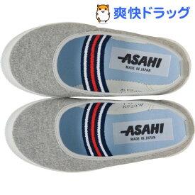 アサヒ キッズ向け上履き S01 グレー 13.0cm(1足)【ASAHI(アサヒシューズ)】