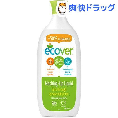 【企画品】エコベール 食器用洗剤 レモン 増量品(750mL)【エコベール(ECOVER)】