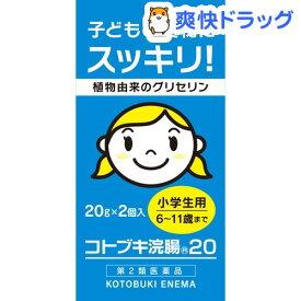 【第2類医薬品】コトブキ浣腸 20(20g*2コ入)【コトブキ浣腸】