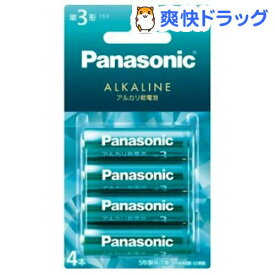 パナソニック カラーアルカリ乾電池 単3形 アクアグリーン LR6LJG/4B(4本入)【パナソニック】