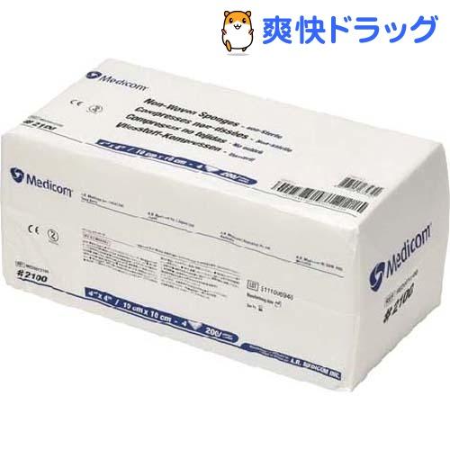 メディコム 不織布ガーゼ 4枚重 2100 (10*10cm)(200枚入)【メディコム】