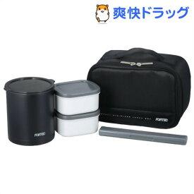 フォルテック・ランチ 保温弁当箱 840ml ブラック FLR-5958(1コ入)【フォルテック(FORTEC)】