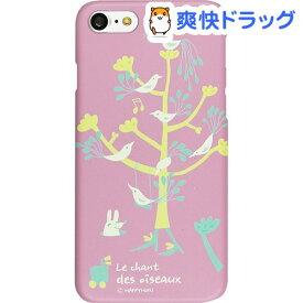ハッピーモリ iPhone7 バードツリー パープル HM8222i7(1コ入)【ハッピーモリ】