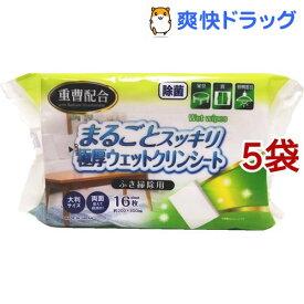 サニーテックス まるごとスッキリ極厚ウエットシート ふき掃除用(16枚入*5袋セット)