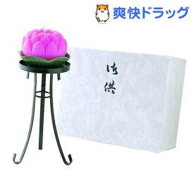 カメヤマ 蓮玉ローソクセット 華(鉄製燭台付)(1セット)【カメヤマ】