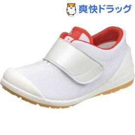 アサヒ健康くん 502A ホワイト/レッド KC36502-AB 19.5cm(1足)
