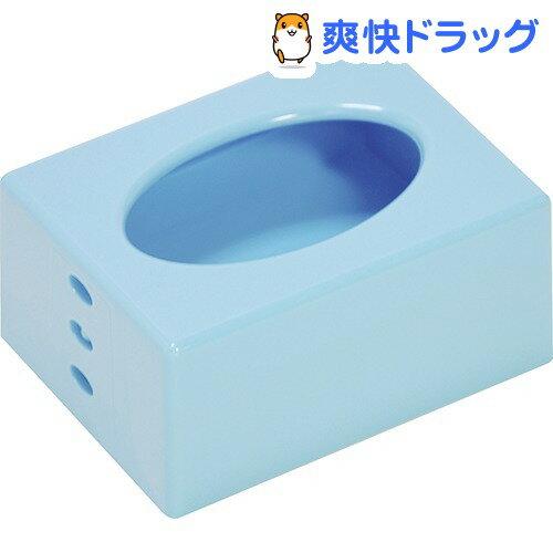 ポケットティッシュケース ブルー(1コ入)