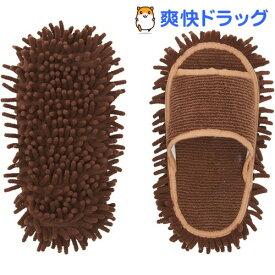 マイクロファイバー履くモップ ブラウン(1コ入)