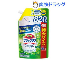 バスマジックリン お風呂用スーパークリーン グリーンハーブ 詰め替え スパウトパウチ(820ml)【バスマジックリン】