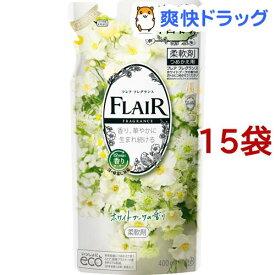 フレア フレグランス 柔軟剤 ホワイト&ブーケ つめかえ用(400ml*15袋セット)【フレア フレグランス】