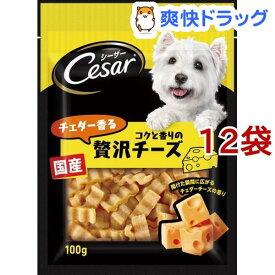シーザースナック チェダー香るコクと香りの贅沢チーズ(100g*12コセット)【d_cesar】【シーザー(ドッグフード)(Cesar)】