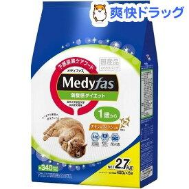 メディファス 満腹感ダイエット 1歳から チキン&フィッシュ味(450g*6袋)【d_medi】【メディファス】