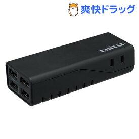プリンストン 4ポートUSB給電機能付き2個口OAタップ Unitap ブラック PPS-UTAP3ABK(1コ入)【プリンストン(Princeton)】