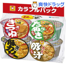 マルちゃん まめカラフルパック 西(4個入)【マルちゃん】