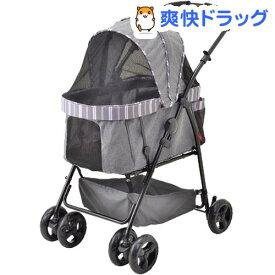 わんわんカート多頭用DXαストライプグレー(1台)【わんわんカート】