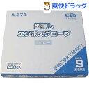 【訳あり】食品加工用 ポリエチ手袋 ブルー Sサイズ(200枚入)
