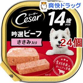 シーザー 14歳からの 吟選ビーフ ささみ入り(100g*24コセット)【d_cesar】【シーザー(ドッグフード)(Cesar)】