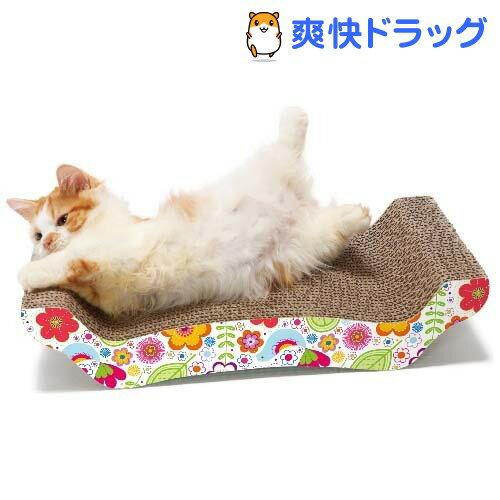 猫壱 バリバリ ベッド 花柄 M(1コ入)【猫壱】