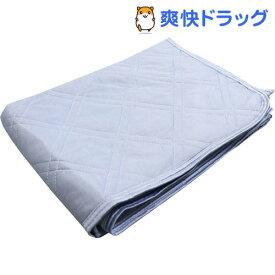 【アウトレット】冷感 ニュークールアルファ 敷パット シングルサイズ ネイビー 約100*200cm(1枚入)