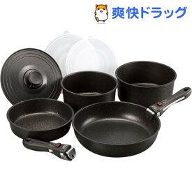 ゴールドマーブル ハンドル着脱式鍋セット ジョルノ GM-8954(1セット)