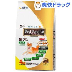 ベストバランス 柴犬用(4kg)【qw5】【dalc_unicharmpet】【ベストバランス】[ドッグフード]