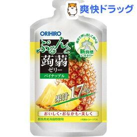 ぷるんと蒟蒻ゼリー パウチショット パイナップル(100g*12個入)【ぷるんと蒟蒻ゼリー】