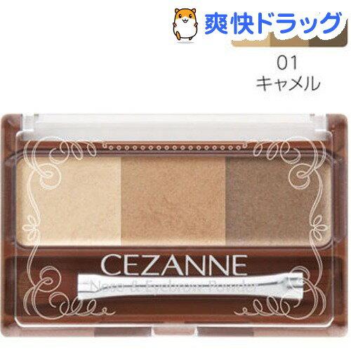 セザンヌ ノーズ&アイブロウパウダー 01 キャメル(3g)【セザンヌ(CEZANNE)】